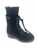 Donna Carolina Boots Art Nr.46.699.139-003 Camoscio nero